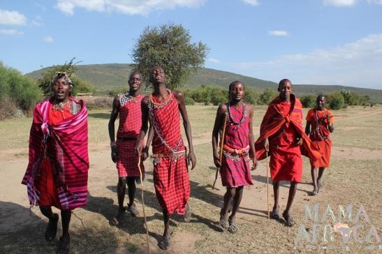 A visit to a Maasai village